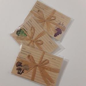 """Recipe cards Michaels """"Vintage Fruits Vegetables"""""""